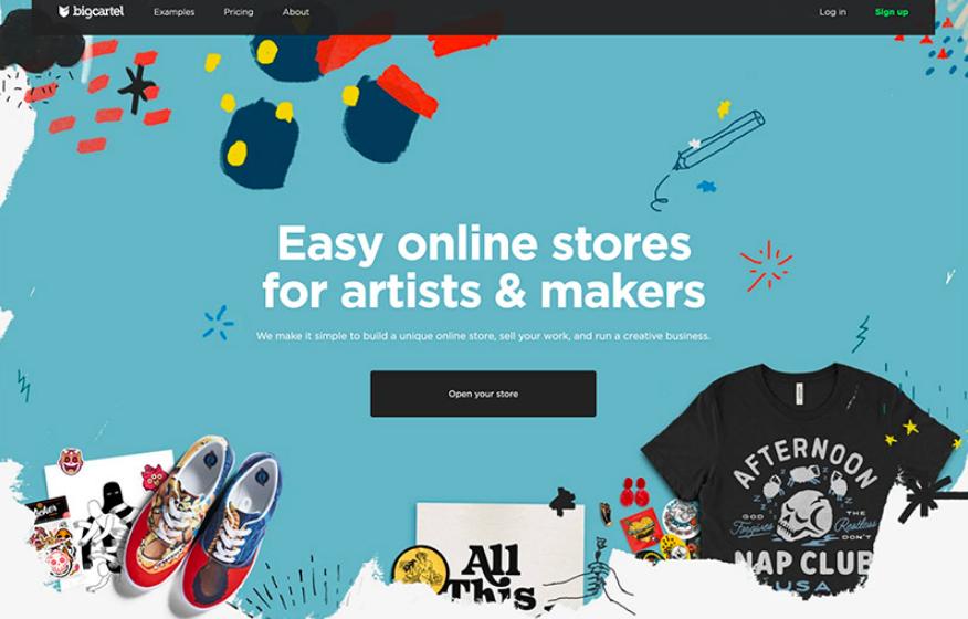 Big Cartel از بهترین فروشگاه سازها برای طراحی سایت فروشگاهی