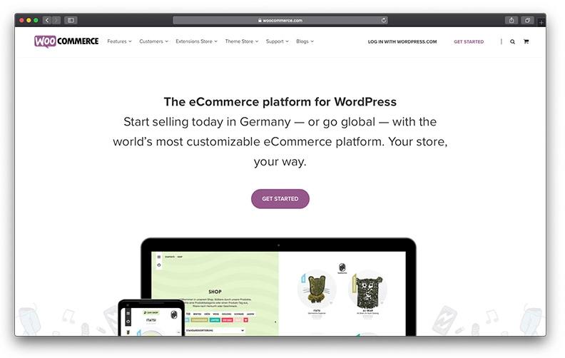 WooCommerce از بهترین فروشگاه سازها برای طراحی سایت فروشگاهی