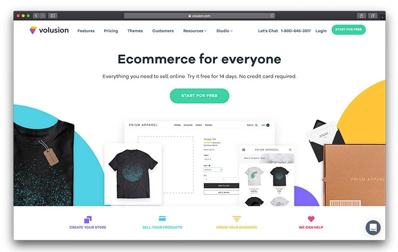 Volusion از بهترین فروشگاه سازها برای طراحی سایت فروشگاهی