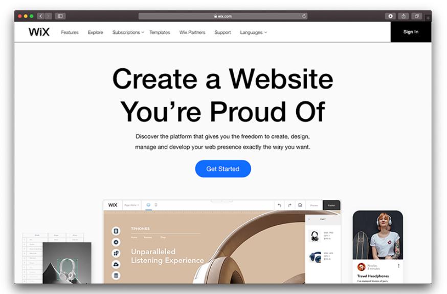 WIX از بهترین فروشگاه سازها برای طراحی سایت فروشگاهی