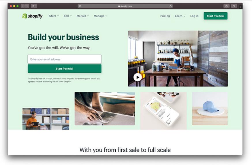 Shopify از بهترین فروشگاه سازها برای طراحی سایت فروشگاهی