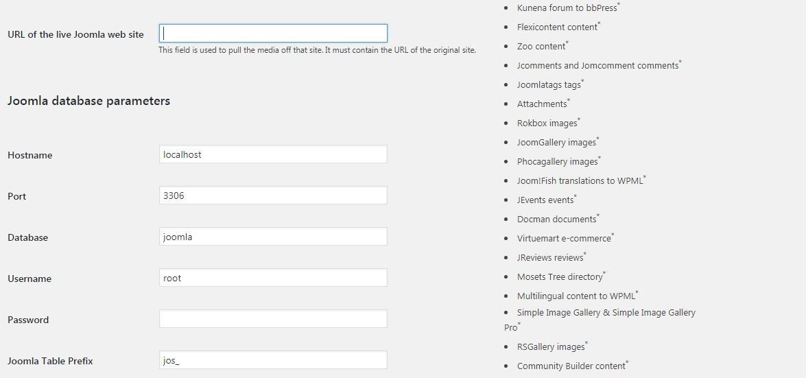 انجام تنظیمات در مراحل انتقال وبسایت از جوملا به وردپرس