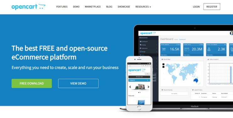 OpenCart از بهترین فروشگاه سازها برای طراحی سایت فروشگاهی