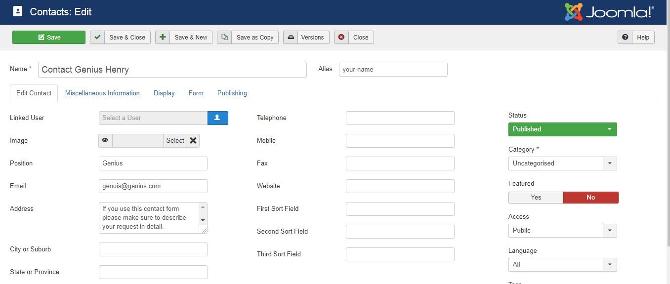 فرم های تماس در جوملا، از مراحل انتقال وبسایت از جوملا به وردپرس