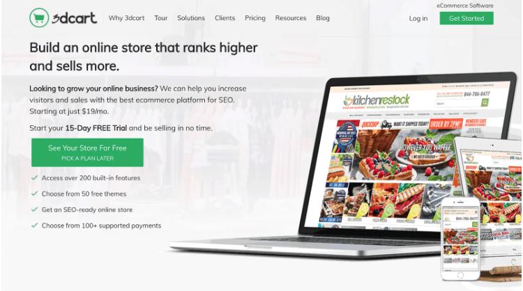 3dcart از بهترین فروشگاه سازها برای طراحی سایت فروشگاهی